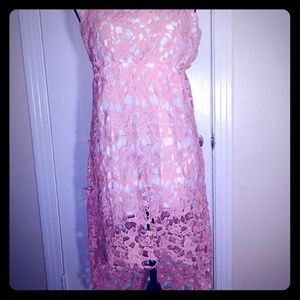Pink Hi-Lo sundress NEW